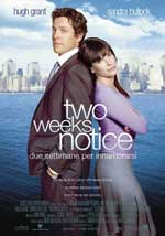 Two Weeks Notice streaming