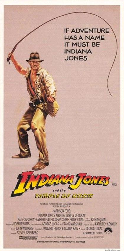 Locandina Indiana Jones e il tempio maledetto