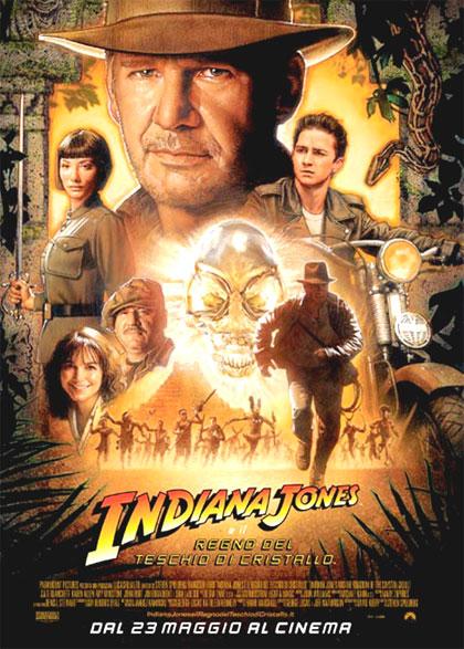 Locandina Indiana Jones e il Regno del Teschio di Cristallo